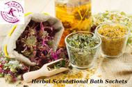Herbal Scentational Bath Sachets, Bath Pouch, bath soak, herbal bath, stress relief, floral bath, peaceful sleep, organic fragrance, stress relief bath, bath herbs organic