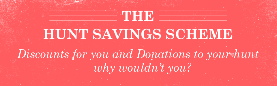 Discounts for you and donations to your hunt