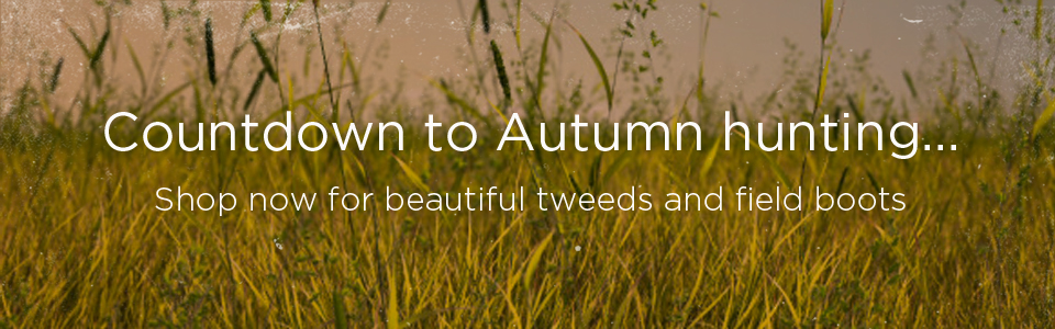 Countdown to Autumn hunting - shop now for beautiful tweeds and field boots