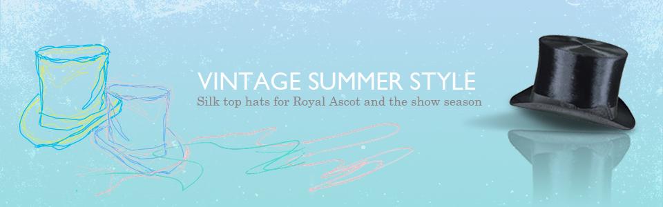 Silk top hats for Ascot & the show season