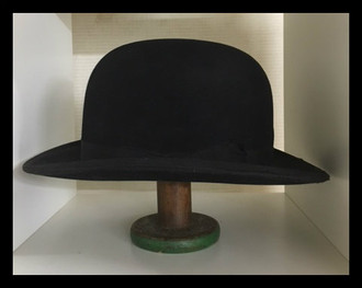 Vintage G.A Dunn Bowler Hat, 7 1/4