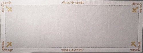 Orthodox Cross Linens, gold table runner