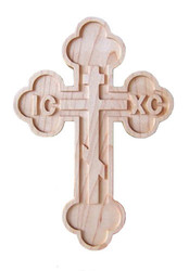 Wood Wall Cross, Russian (MAPLE)