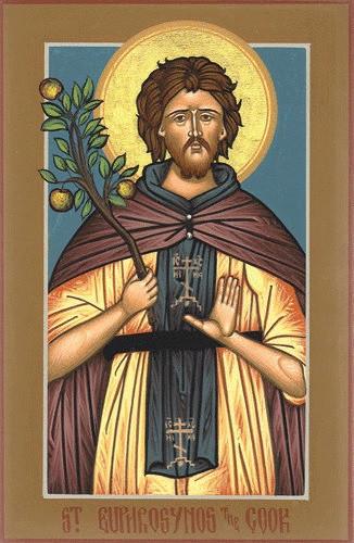 Saint Euphrosynos the Cook, medium icon