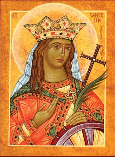 Saint Catherine, medium icon