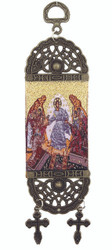 Tapestry Banner, icon of the Resurrection, 7 inch tall
