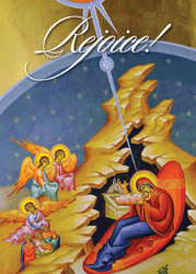 Nativity with Angels, individual Christmas card