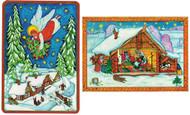 Russian Folk Art Christmas Postcards