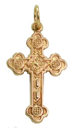 009027 Antiochian Cross, 14k yellow gold, medium