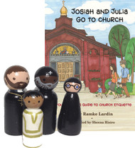For Preschooler: Josiah and Julia Go to Church / Orthodox Peg Pals, set of 4