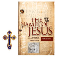 The Names of Jesus with Auto Visor Clip St Xenia cross Gift Set