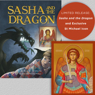 Sasha and the Dragon with Archangel Michael icon gift set