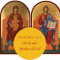Matching set: Christ Enthroned & Virgin Enthroned, large icons