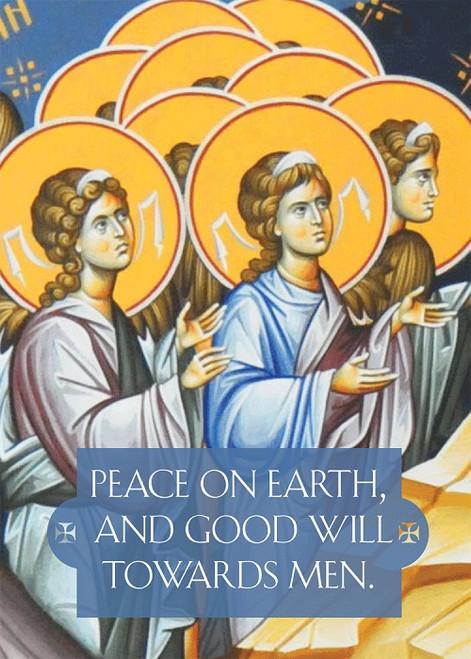 Peace on Earth, individual Christmas card
