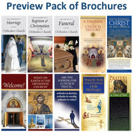 Brochure Preview Pack (10 titles). 1 each of our popular brochures that introduce and explain Orthodox Christianity.