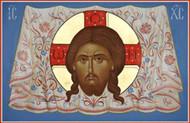 Christ Mandylion, medium icon
