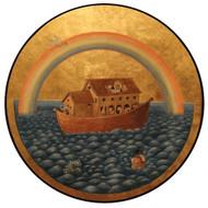 Noah's Ark, round icon