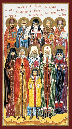 North American Saints, medium Icon. Saints that planted the seed and fostered the growth of Orthodoxy in North America.
