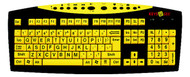 Keys-U-See Large Print Keyboard-Yellow by AbleNet