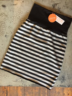 Sophie - cozy pencil skirt ~ black stripes