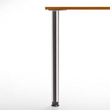 Zoom Counter Height Table Leg, 34-1/4'', 4'' adjustable foot - replacementtablelegs.com