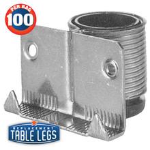 Steel Cabinet and Furniture Leveler, Regular Duty,  ABS insert - replacementtablelegs
