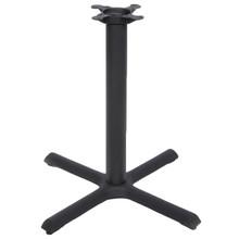 "CAST IRON TABLE BASE, X Style 22""x22"", 28"" height, 3"" diameter steel column - replacementtablelegs.com"