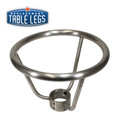 "Table Base Foot Ring for 3"" Columns, 10""x 12"", Stainless Steel - Replacementtablelegs.com"