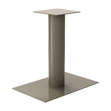 "Rectangle Pedestal Base, 27-3/4"" Height, 18""x28"" Base, 6"" diameter Column, with welded mounting plate - Replacementtablelegs.com"