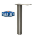 "Upper Cabinet Support Post, Surface Mounted, 10-3/4"" height,  2'' diameter. - Replacementtablelegs.com"
