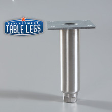 Heavy Duty Equipment Leg with foot retracted - replacementtablelegs.com