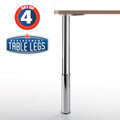 "Studio Telescoping Table Legs, 24""-31"", 2'' diameter leg 7'' adjustable foot - replacementtablelegs.com"