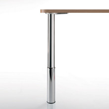 "Studio Telescoping Table Legs, 36""-43"", 2'' diameter leg 7'' adjustable foot - replacementtablelegs.com"