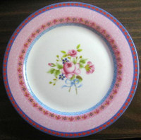 Hot Pink Rose Shabby Chic Rose Cottage Plate L
