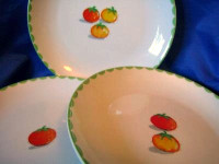 3 Yellow Red Green Tomato Cute Appetizer Plates