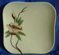 Rockabilly Vintage 50s Yellow Rose CA Small Plate