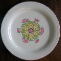 Decorative Plate - 1920s Deco Vintage Shabby Cottage Rose Medallion Large