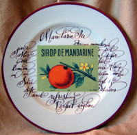 Decorative Plate - Vintage Rosanna Mandarin Orange Label Script Italy