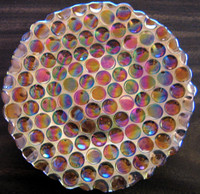 Gold and Purple Art Glass Plate