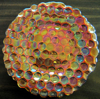 Orange Exotic Art Glass Plate