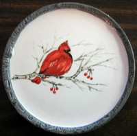 Decorative Cardinal Bird Small Plate