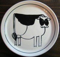 Hand painted Cow Plate