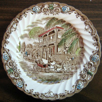 Vintage New Orleans Mansion Plate