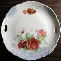 Antique German Rose Tray