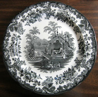 Victorian Zoo Tiger Plate