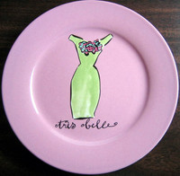 Green sheath fashion Rosanna plate www.DecorativeDishes.net