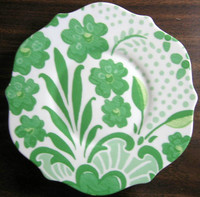 Green Rosanna Soho Apt Plate www.DecorativeDishes.net