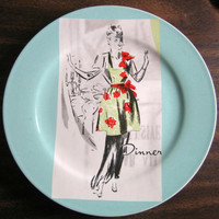 Retro dinner hostess plate www.DecorativeDishes.net