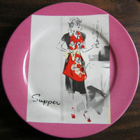 Retro Hostess Apron Plate www.DecorativeDishes.net