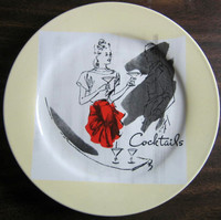 Retro Cocktails Apron Plate www.DecorativeDishes.net